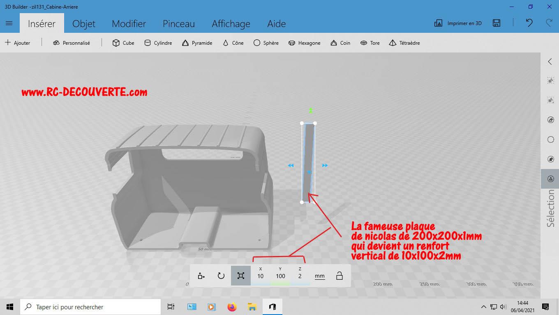 Camion Zil 131 6x6 impression 3D avec balancier totalement fait maison - Page 2 3-cabi10