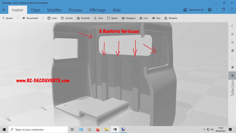Camion Zil 131 6x6 impression 3D avec balancier totalement fait maison - Page 2 4-cabi11