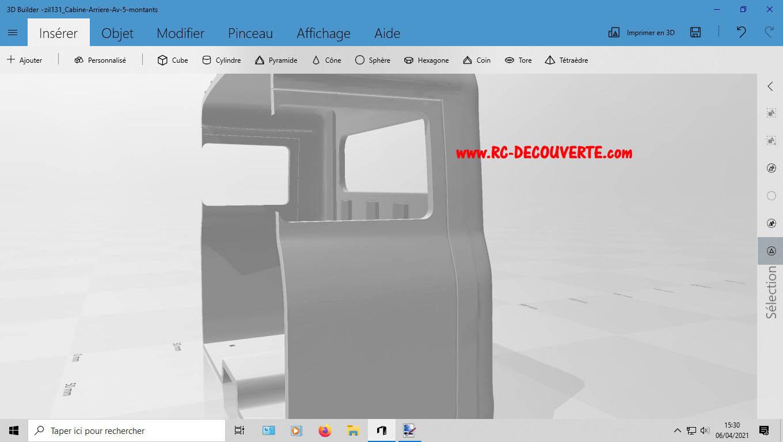Camion Zil 131 6x6 impression 3D avec balancier totalement fait maison - Page 2 4-cabi12