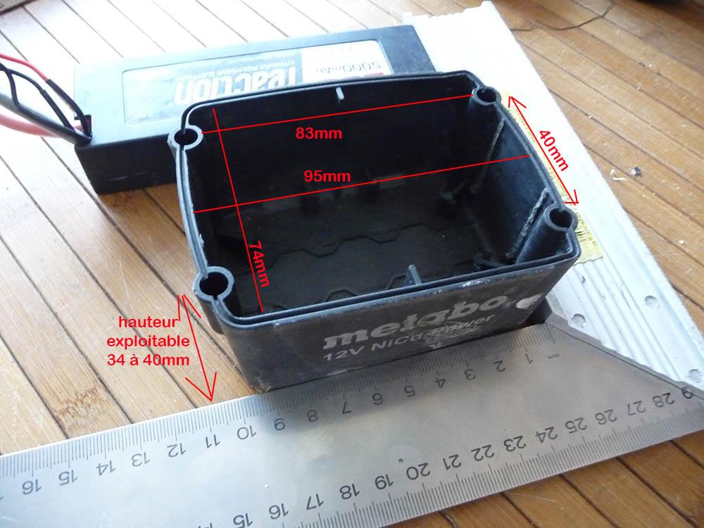 Remplacer batterie Ni-MH 12V pour visseuse Métabo par Lipo 3S Accus-11