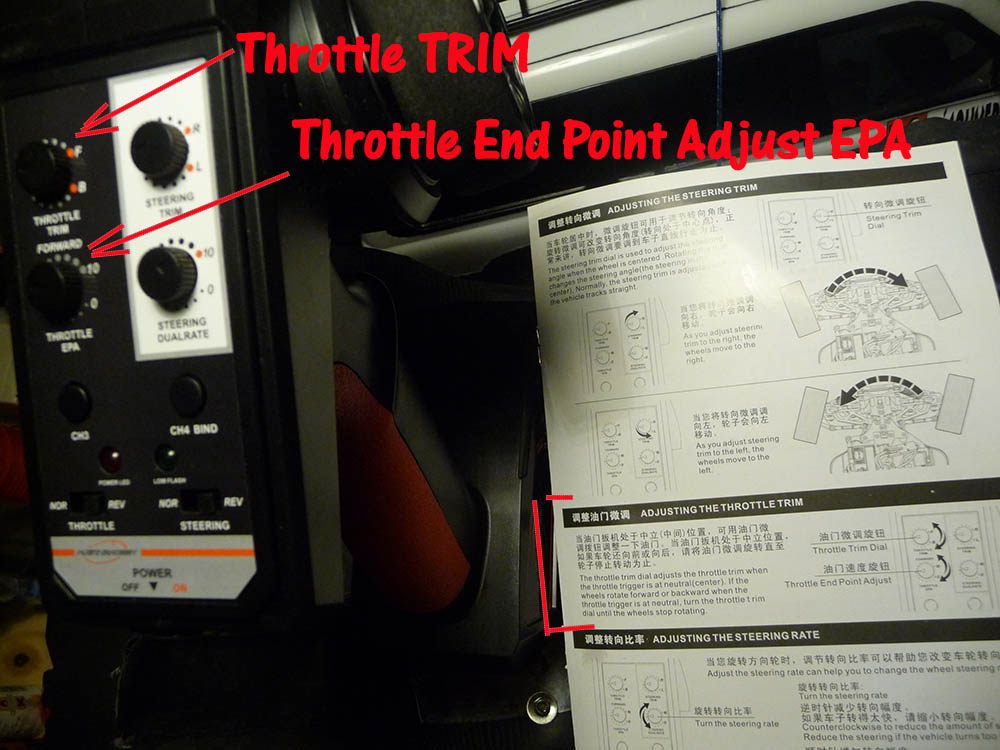 Qu'est ce que le Throttle end point adjust EPA et à quoi ça sert ? Austar12