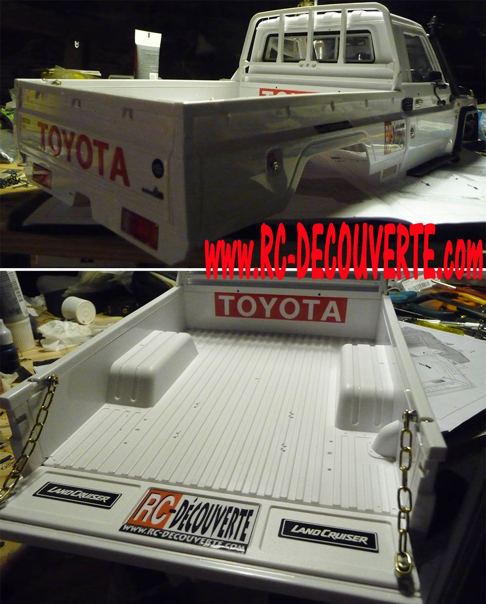 Montage carrosserie Toyota Land Cruiser LC70 Killerbody du Kit BRX01 - Page 2 Carros30