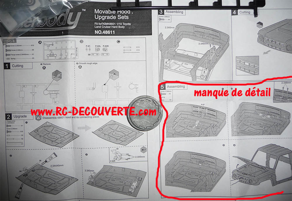 Montage carrosserie Toyota Land Cruiser LC70 Killerbody du Kit BRX01 - Page 2 Carros35