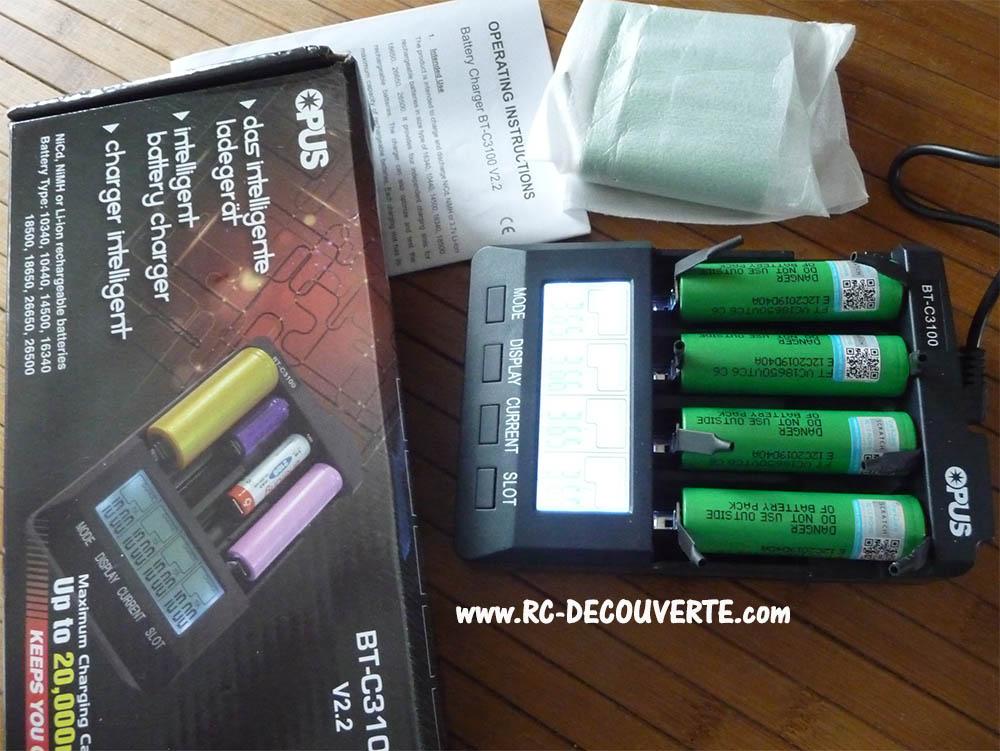 OPUS BT-C3100 : Chargeur Déchargeur Testeur de pile et accus rechargeable Nicd, Nimh, Li-ion, 16340, 10440, 14500, 16340, 18500, 18650, 26550, 26500 Charge11