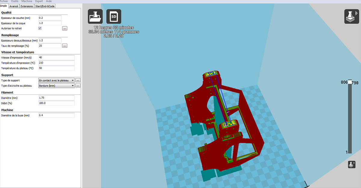 Chassis 3D pour Scale et Crawler 1/10 Chassi10