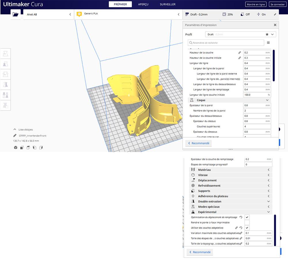 Couches adaptatives ou Adaptative layers en impression 3D sur Cura ou Repetier Couche11
