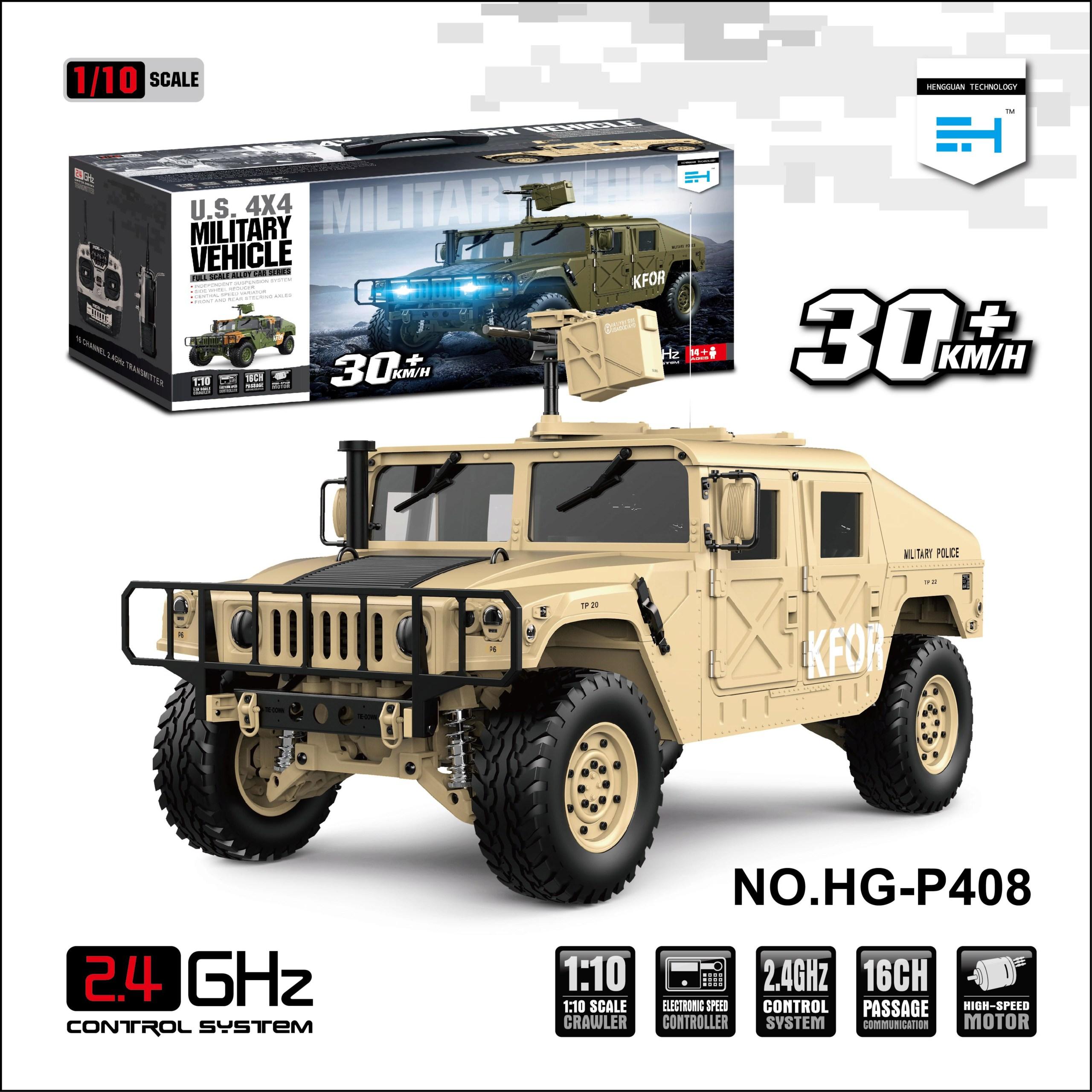 HG P408 1/10 Humvee 4WD US Military Crawler Truck ARTR 30km/h Hg-p4010