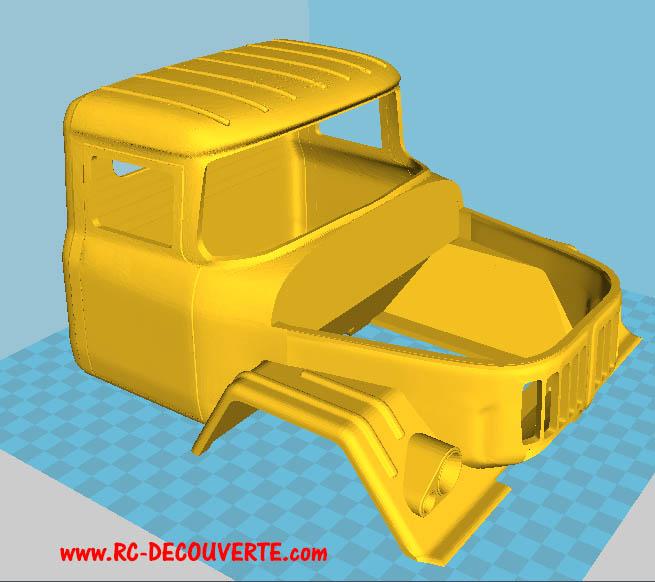 Camion Zil 131 6x6 impression 3D Impres17