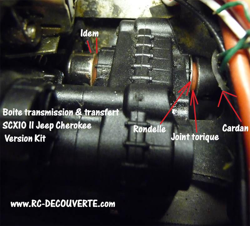 Etancher sorties de pont de transmission et boite de transfert pour scale et crawler Jointa10