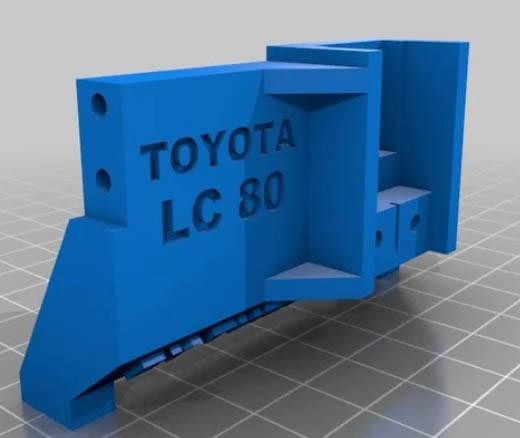 Toyota LC80 HDJ80 sur chassis Scx10 Lc80-s10