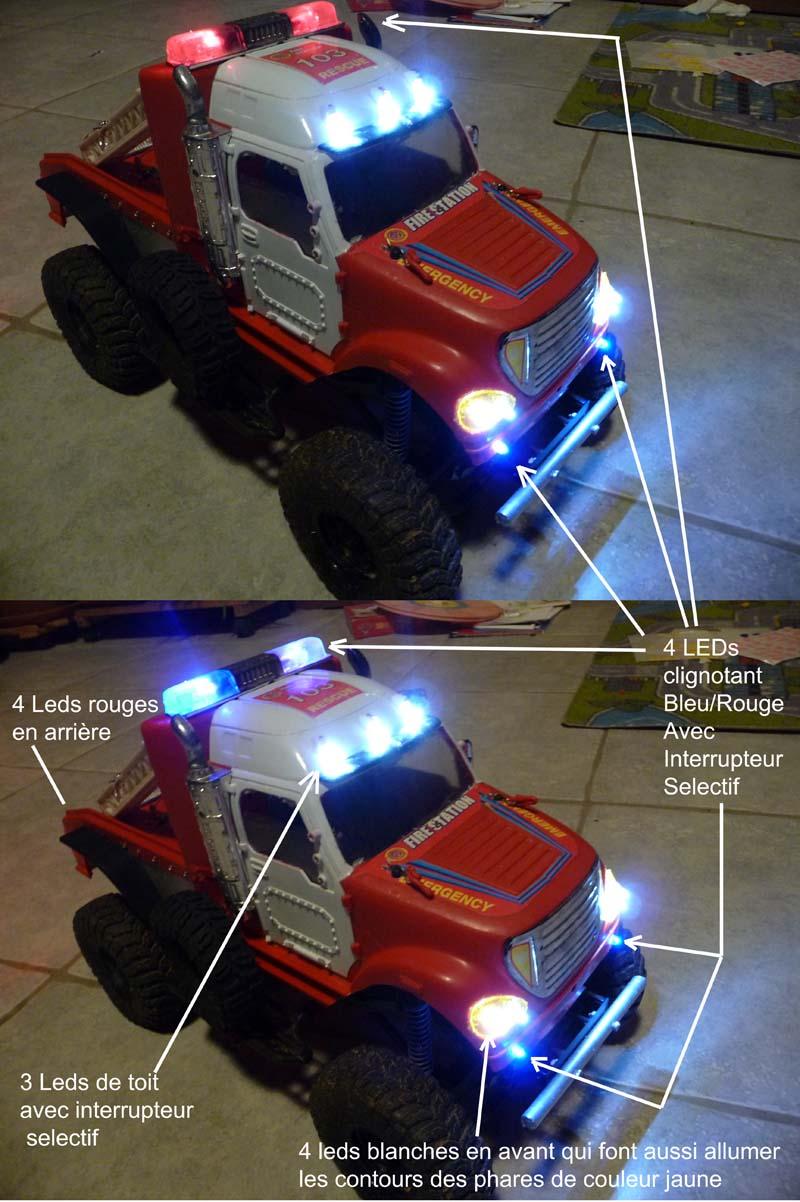 Mon camion de pompier SCFX RC Scale 1/10 Lumier10