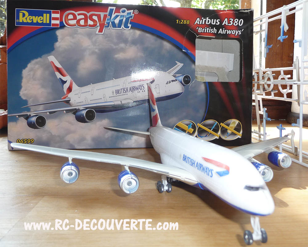 Maquette Revell Easykit Airbus A380 British Ariways 1:288 Maquet10