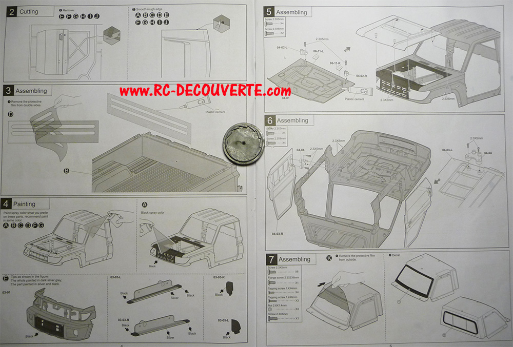Montage carrosserie Toyota Land Cruiser LC70 Killerbody du Kit BRX01 Notice10