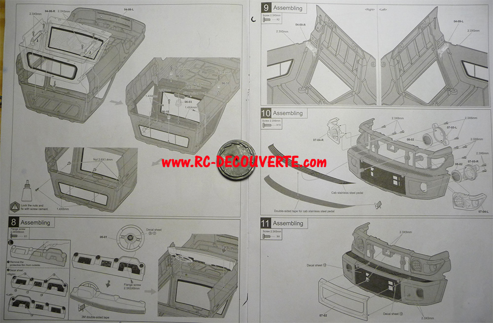 Montage carrosserie Toyota Land Cruiser LC70 Killerbody du Kit BRX01 - Page 2 Notice11