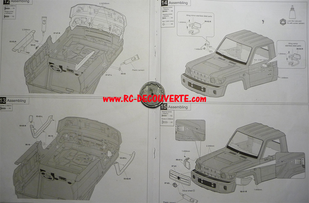 Montage carrosserie Toyota Land Cruiser LC70 Killerbody du Kit BRX01 - Page 2 Notice12