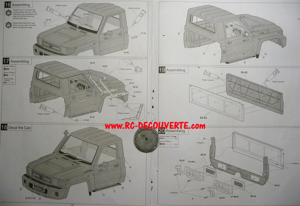 Montage carrosserie Toyota Land Cruiser LC70 Killerbody du Kit BRX01 - Page 2 Notice14