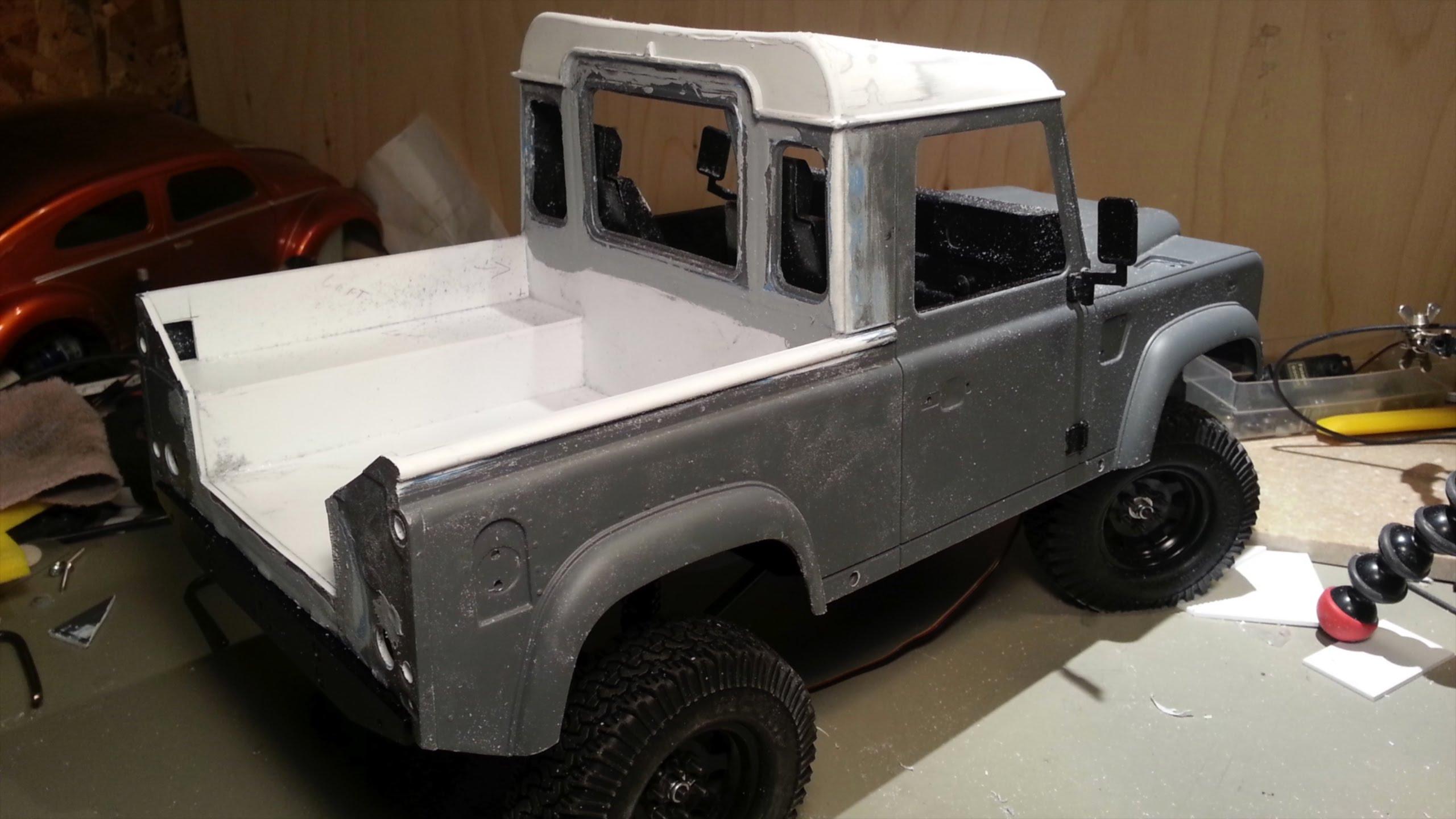 Fabrication Land Rover Pickup Defender D90 pour Léo Pickup12