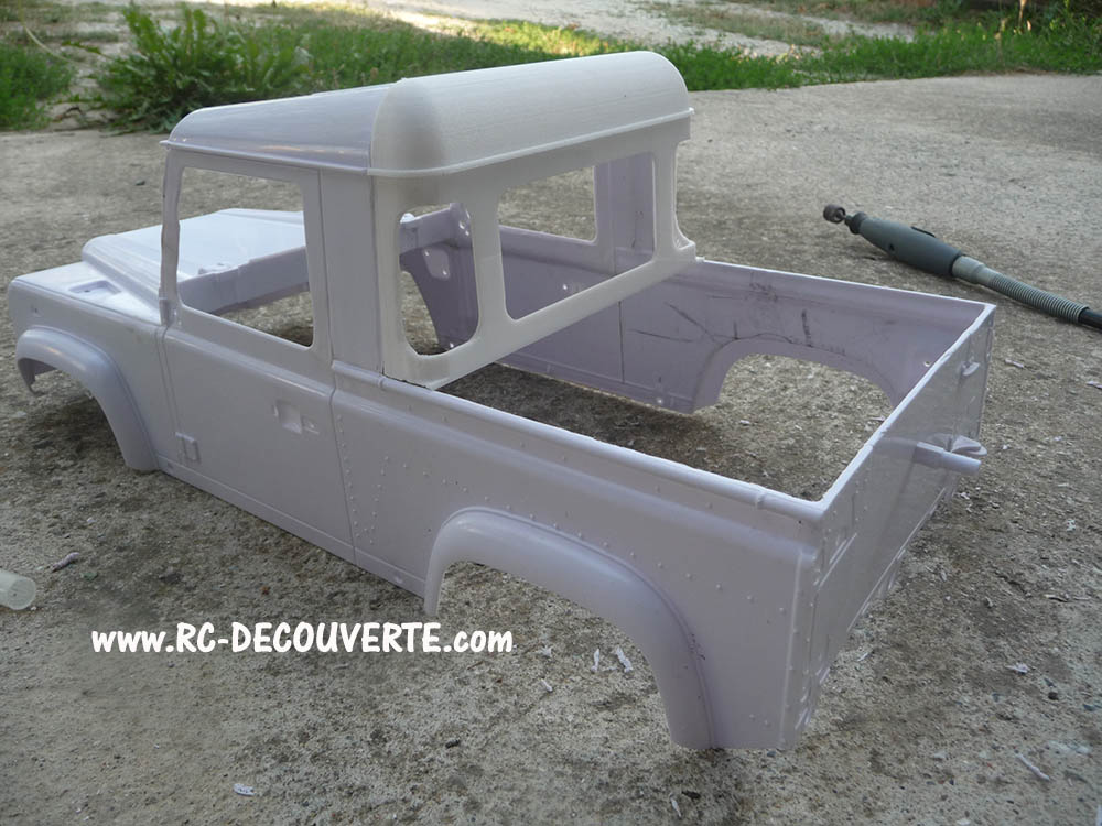 Fabrication Land Rover Pickup Defender D90 pour Léo Pickup13