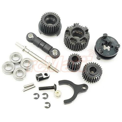 Ajouter 2eme vitesse sur boite transmission scx10 II Jeep Cherokee AX90046 Pieces11