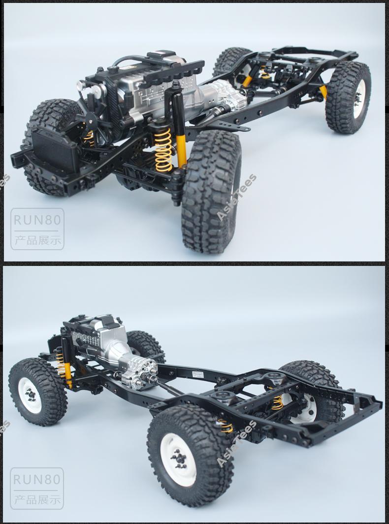 Nouveauté Chassis RC RUN 1:10 LC80 Kit Rc-run12