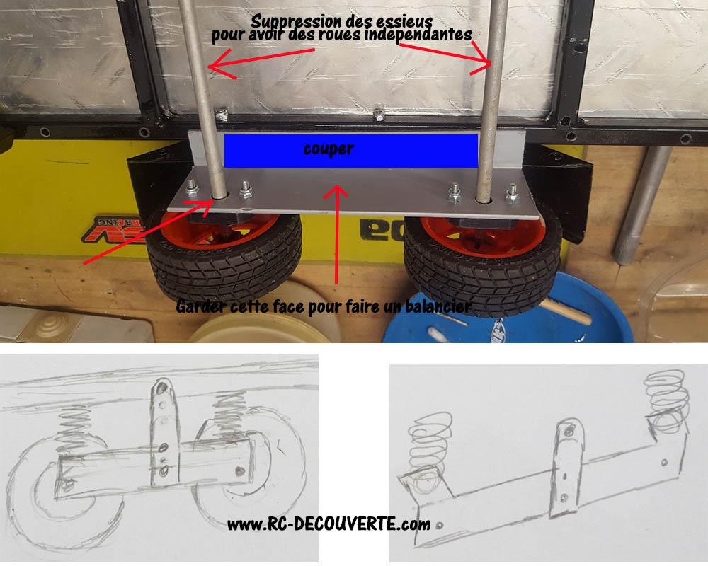 Fabrication remorque plateau à suspension ou balancier Remorq10