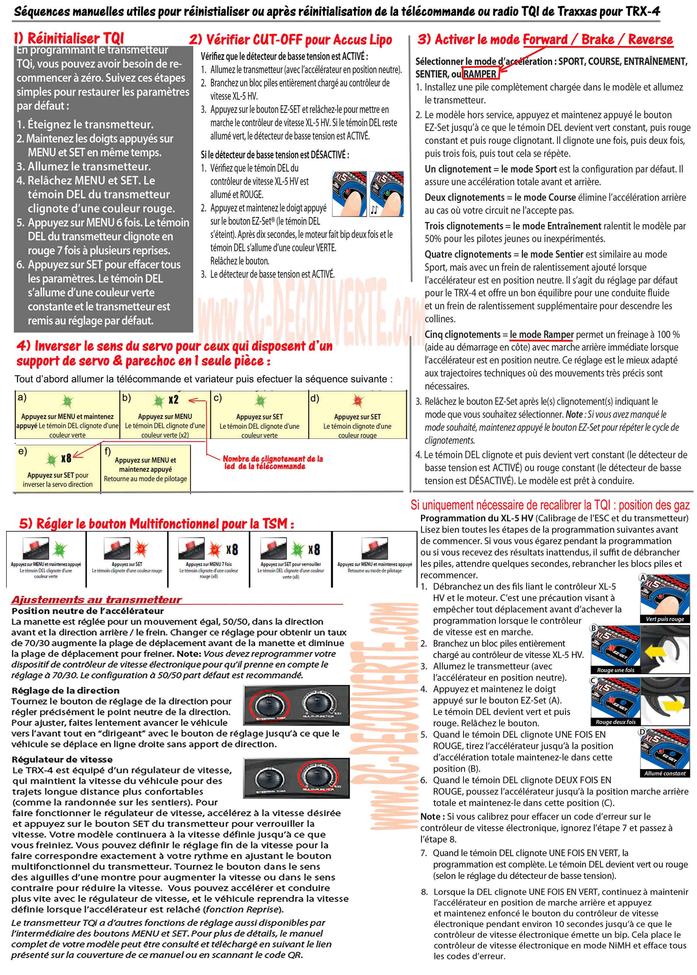 Problème de désynchronisation de Variateur Traxxas XL-5 et la télécommande TQ sur le traxxas slash Sequen14