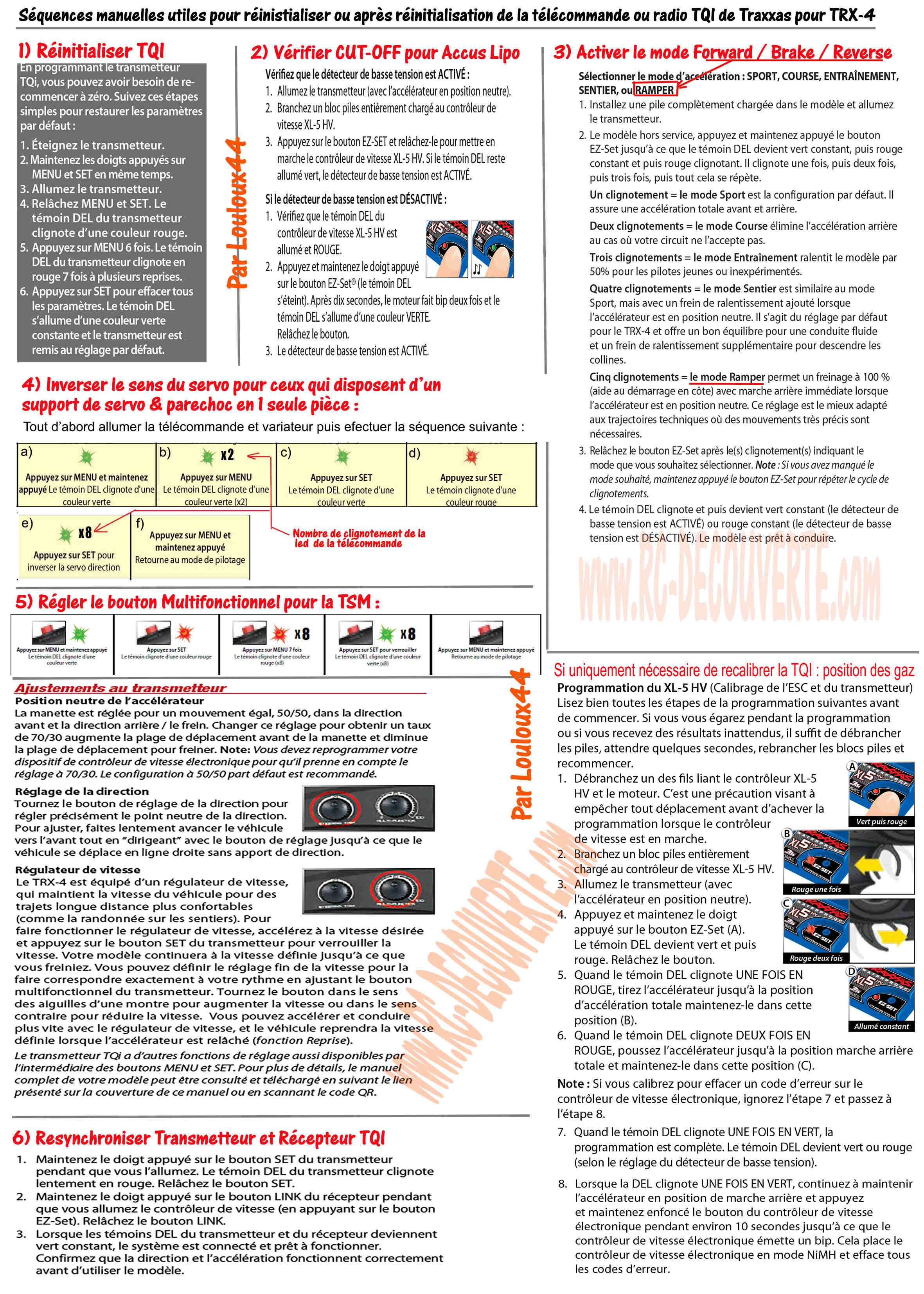 Comment réinitialiser ou faire un reset de la télécommande TQI du TRX-4 et réactiver les fonctions de base manuellement sans traxxas LINK ? - Page 2 Sequen17