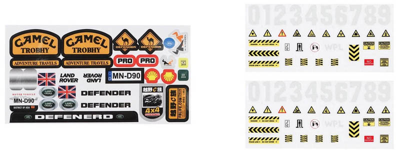 Autocollants ou stickers de logos RC 1/10 pour scale et crawler Sticke12