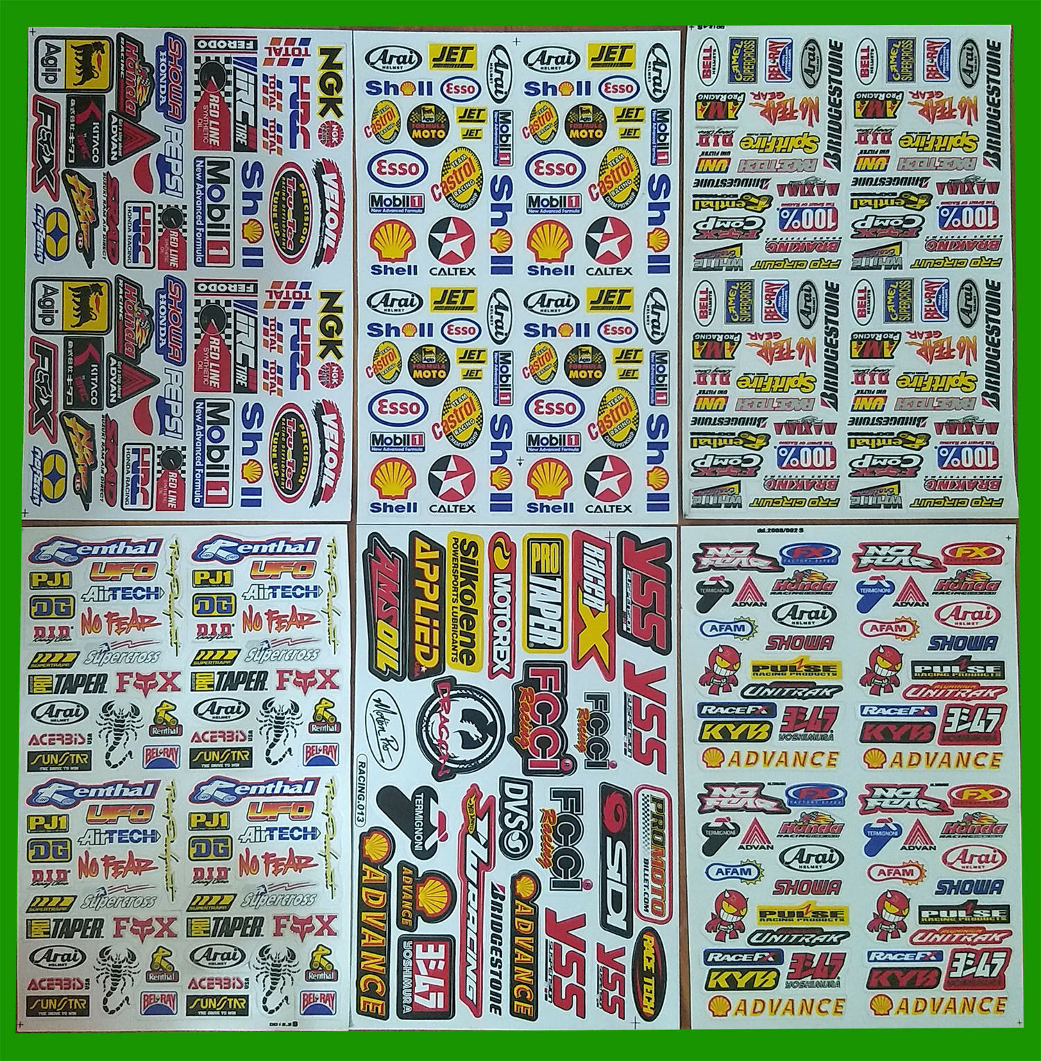 Autocollants ou stickers de logos RC 1/10 pour scale et crawler Sticke16