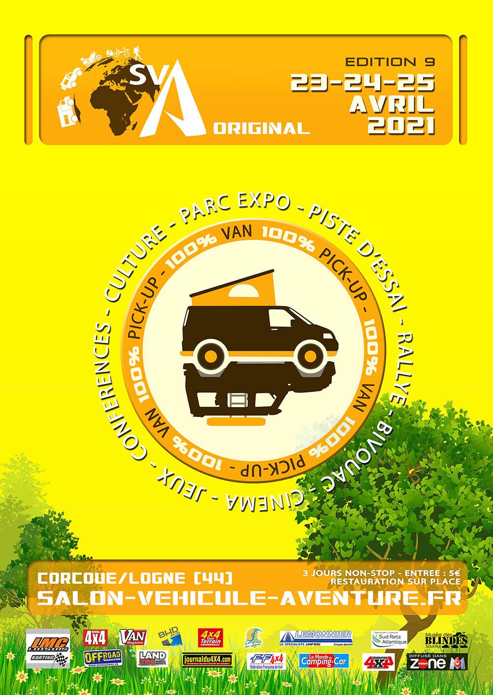 Salon du Véhicule d'Aventure SVA 2021 - Corcoué sur Logne (44) : du 11 au 13 juin Sva20213