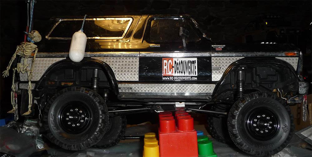 Test de différentes tailles et de styles de pneus et jantes sur Traxxas TRX-4 Bronco Trx-4-40