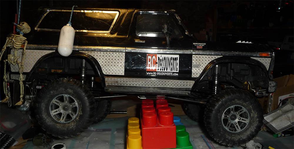 Test de différentes tailles et de styles de pneus et jantes sur Traxxas TRX-4 Bronco Trx-4-45
