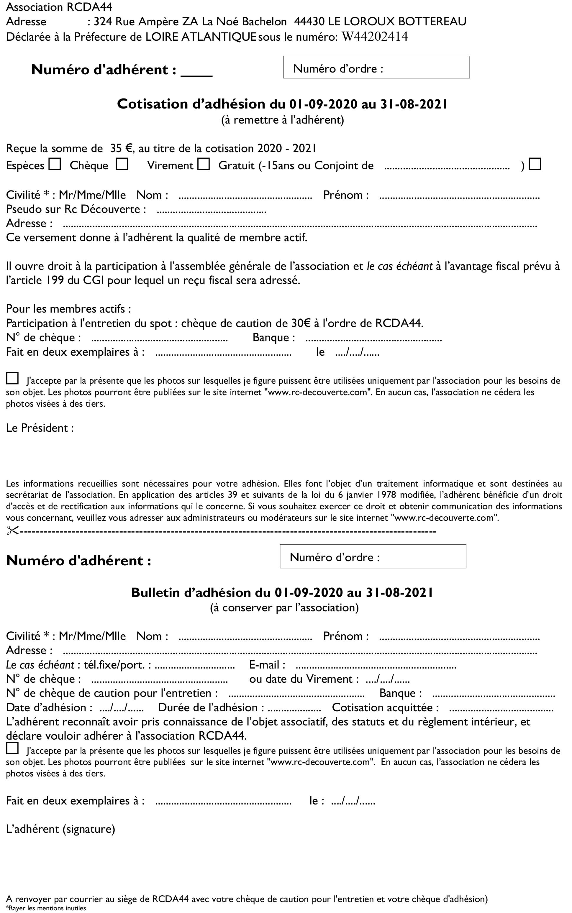 Présentation de l'Association RCDA44, Modalité d'Inscription et Donations V6-bul10