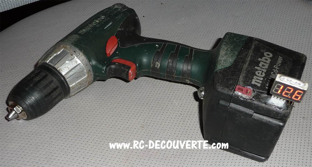 Remplacer batterie Ni-MH 12V pour visseuse Métabo par Lipo 3S Visseu10