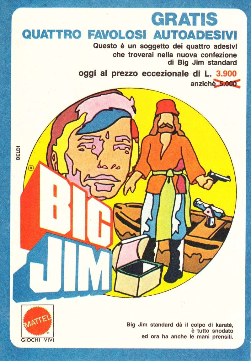 "PUBBLICITÀ ""AUTOADESIVI BIG JIM"" Image33"