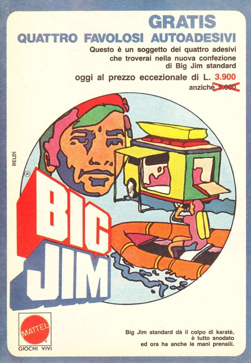 "PUBBLICITÀ ""AUTOADESIVI BIG JIM"" Image36"