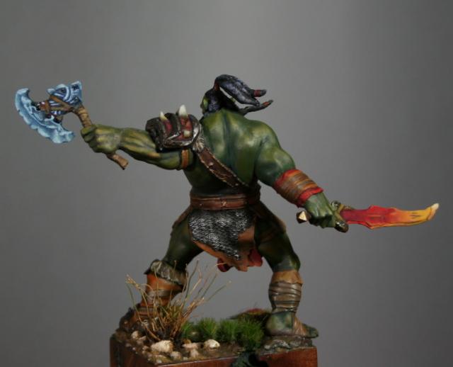 "Skargh, ""Orc fury"", étude comparative.... Img_6123"