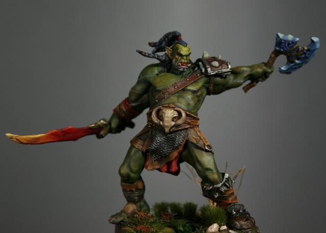 "Skargh, ""Orc fury"", étude comparative.... Img_6124"