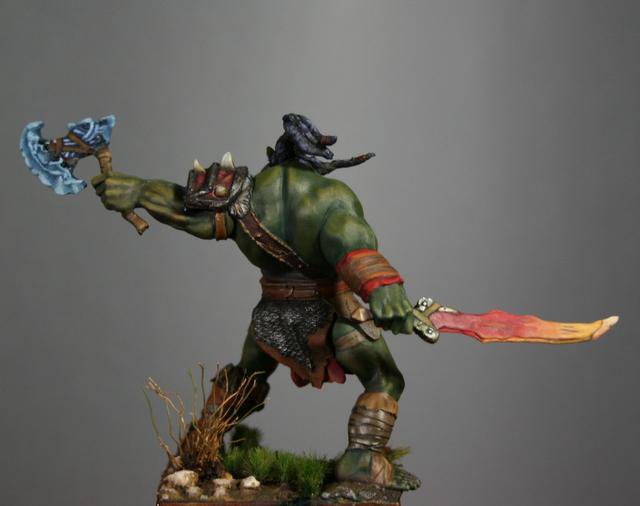 "Skargh, ""Orc fury"", étude comparative.... Img_6125"