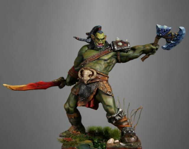 "Skargh, ""Orc fury"", étude comparative.... Img_6126"