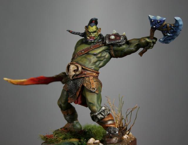 "Skargh, ""Orc fury"", étude comparative.... Img_6127"