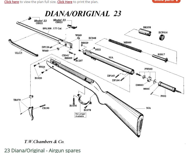 Très vieille carabine Diana 22 Captur10