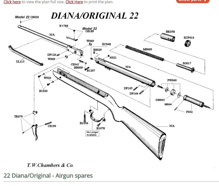 Très vieille carabine Diana 22 Captur11