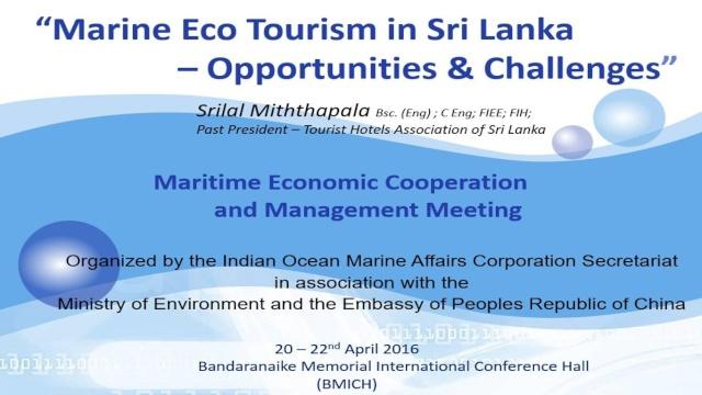 Marine Eco Tourism - Opportunities  & Challenges   70d31d11