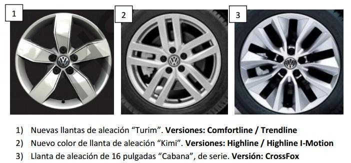 VW cambia el equipamiento de los Fox y Suran en Argentina Llanta10