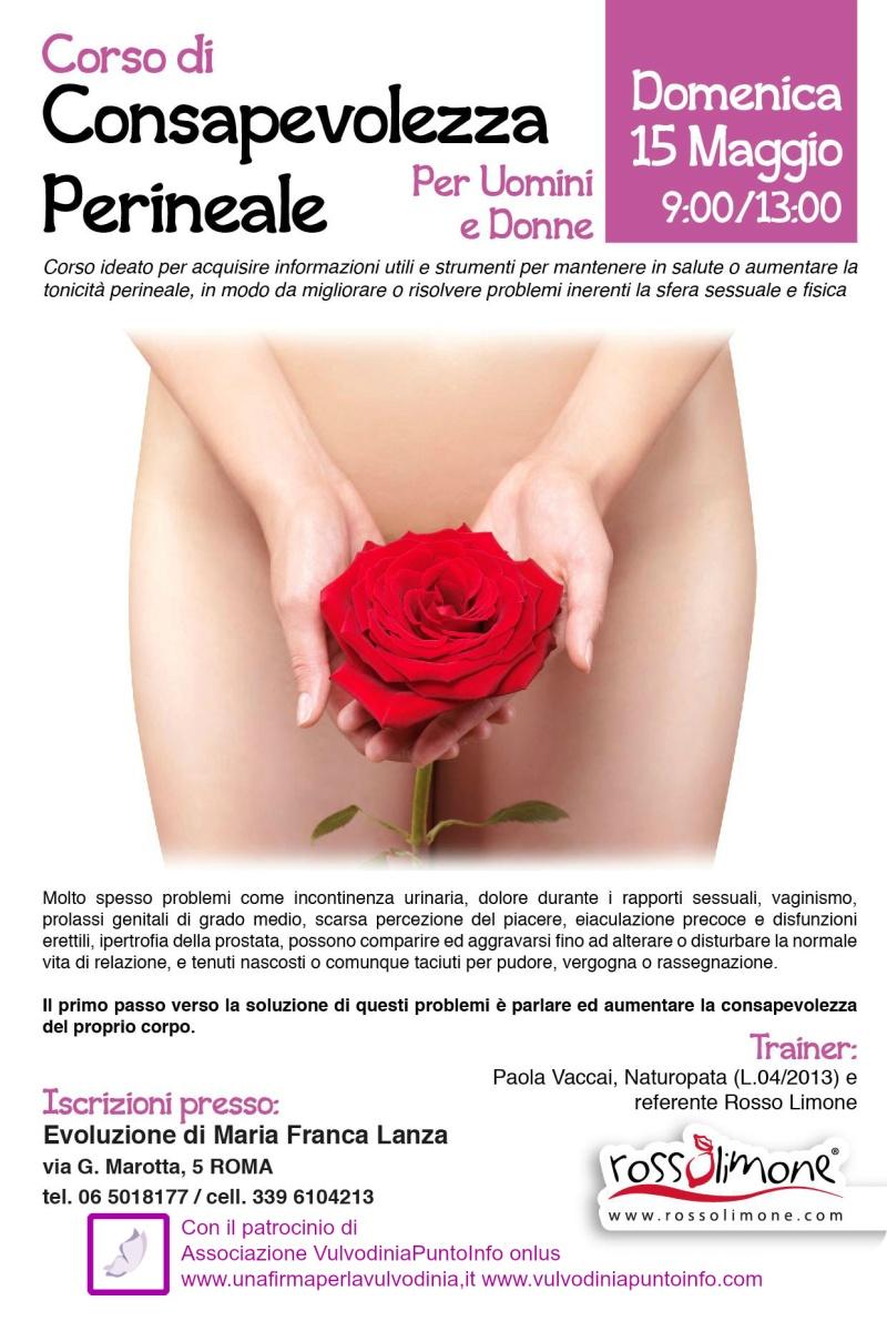 Corso di Consapevolezza Perineale Roma dom 15 maggio 2016 | patrocinio di Ass. VulvodiniaPuntoInfo onlus Consap10