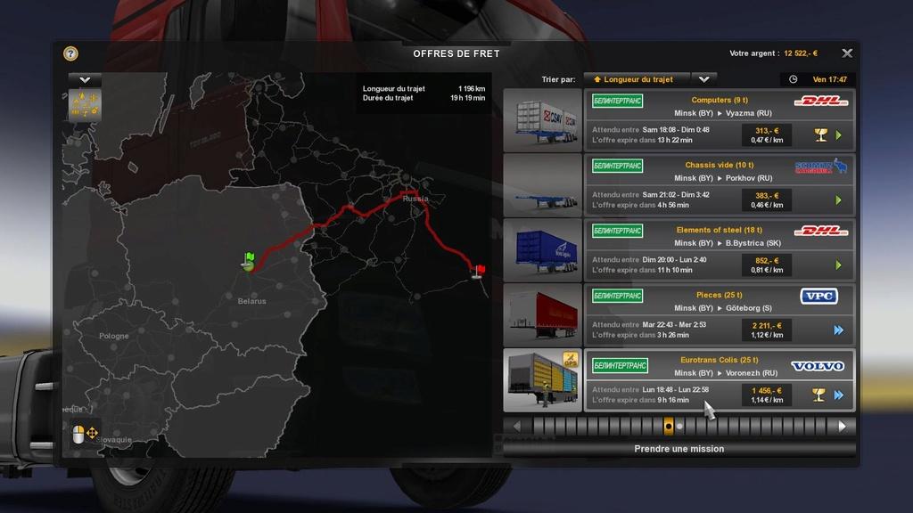 EUROTRANS Russie - Colaboration inter-transporteur. Eurot404