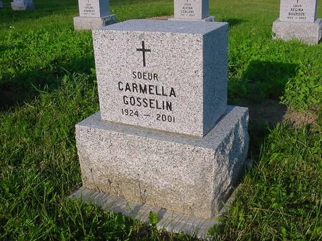 Gosselin, Soeur Carmella 1814
