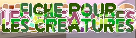Modèle de Fiche pour CRÉATURE Gems17