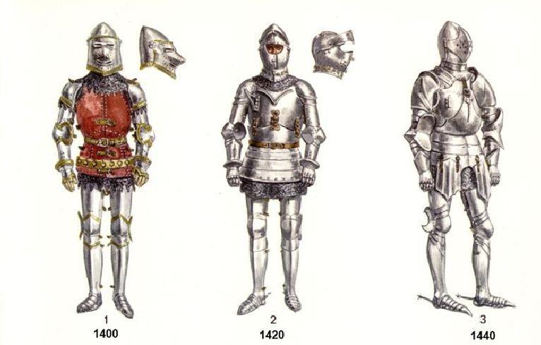L'armure: evolution à travers le moyen age G110